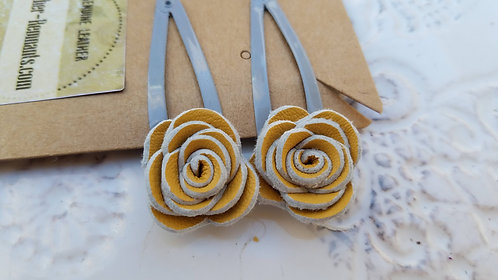 Yellow and Grey Hair clips