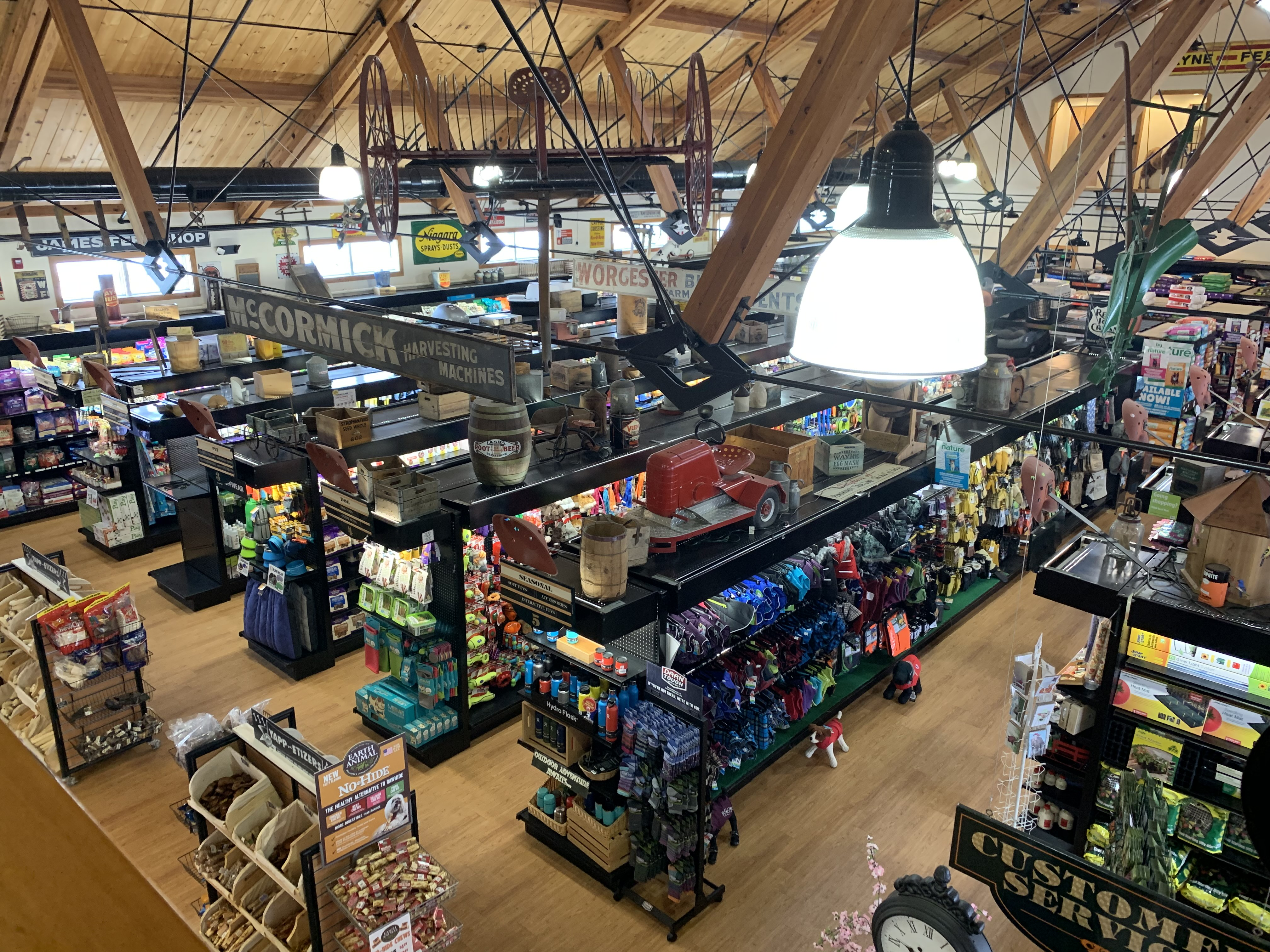 A view of the store from the mezzanine.