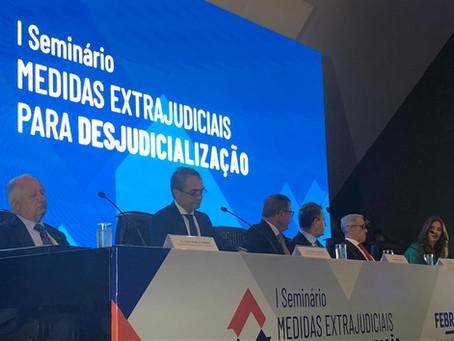 Seminário discute regulamentações do CNJ para estimular desjudicialização
