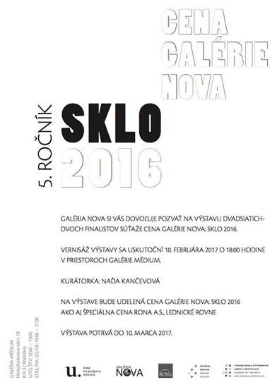 Cena Galérie NOVA : Sklo 2016