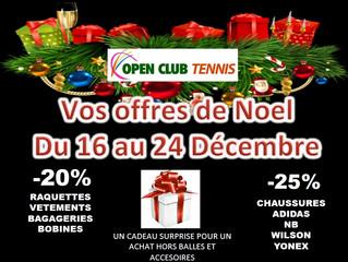 """Le magasin partenaire de notre club vous propose des """"offres de Noël"""""""