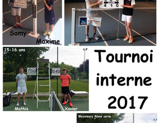 Tournoi interne 2017