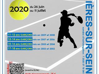 Le tournoi des jeunes du 24 juin au 11 juillet 2020