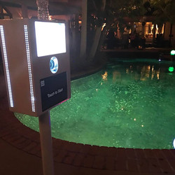 pool side booth