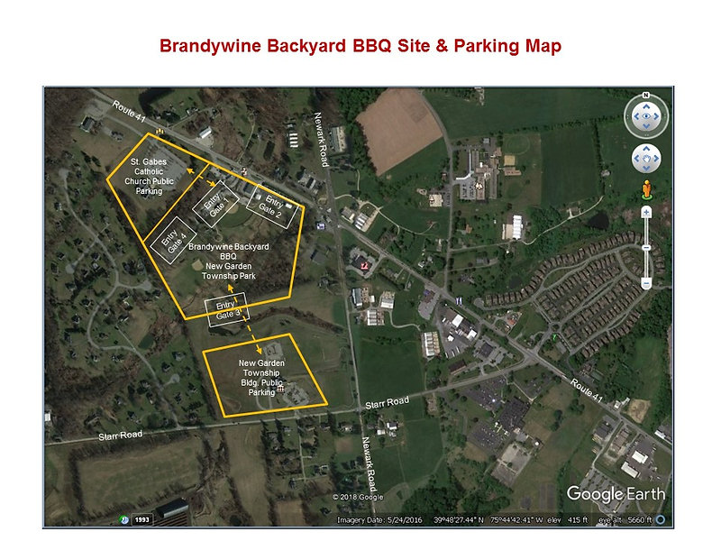 Brandywine Backyard BBQ Parking Detailed