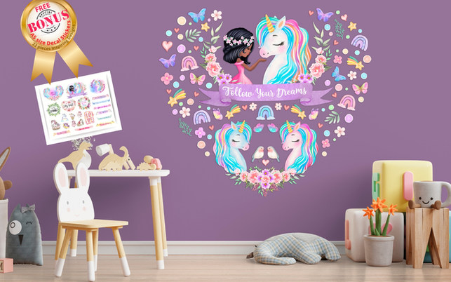 Unicorn_Wall_Decals_For_Girls_Bedroom_Black