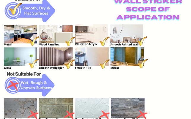 Unicorn Wall Stickers Scope of Application