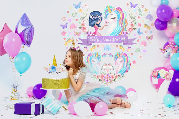 Unicorn Wall Decals For Girls Bedroom
