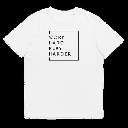 WORK HARD - Unisex organic cotton t-shirt