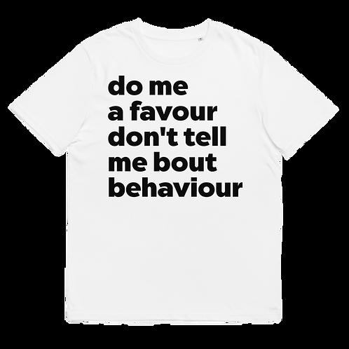 behaviour - Unisex organic cotton t-shirt