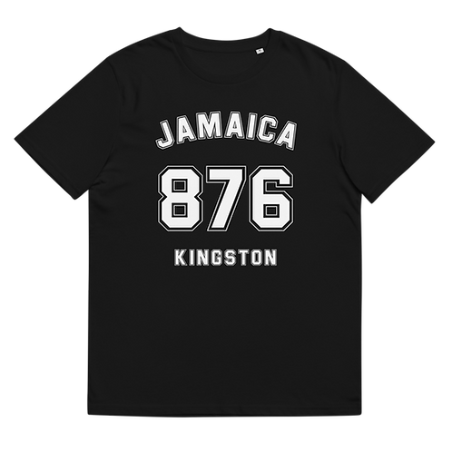 JAMAICA 876 KINGSTON - Unisex organic cotton t-shirt