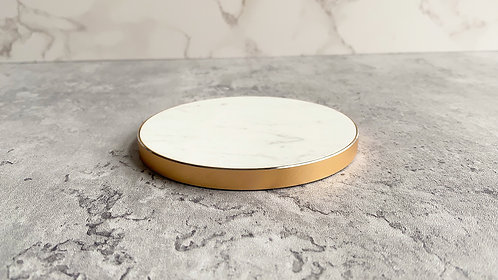 Genuine Marble Wireless Charger - White Marble