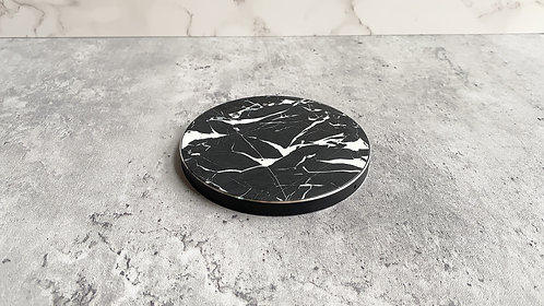 Genuine Marble Wireless Charger - Black Marble