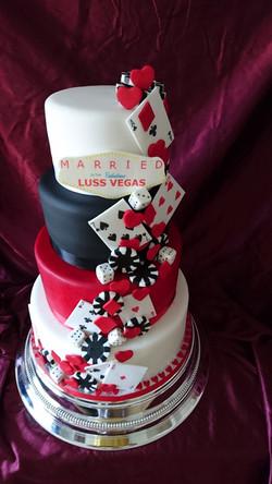 Four Tier Las Vegas Wedding Cake