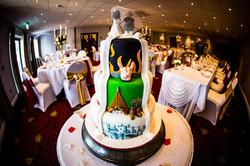 Three Tier Reveal Wedding Cake