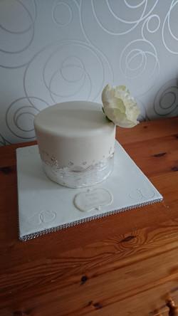 Silver Wedding Anniversary Cake