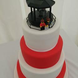Three Tier Lighthouse Wedding Cake