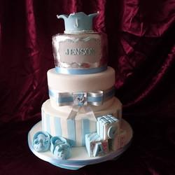 Three Tier Naming Day Cake
