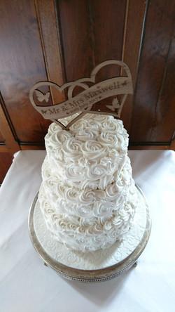 Three Tier Swirl Wedding Cake