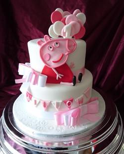 Two Tier Peppa Pig Cake