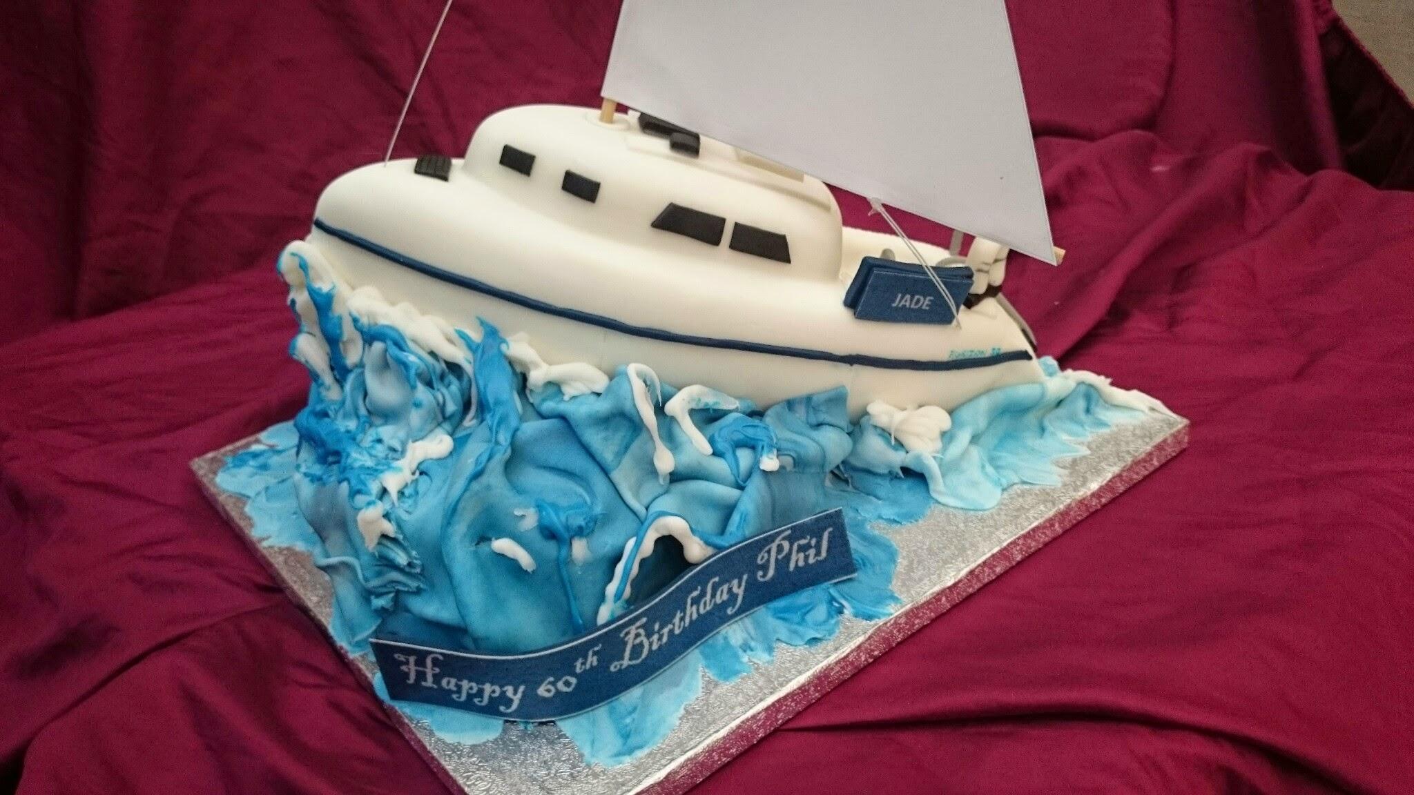 3D Sailing Boat Cake