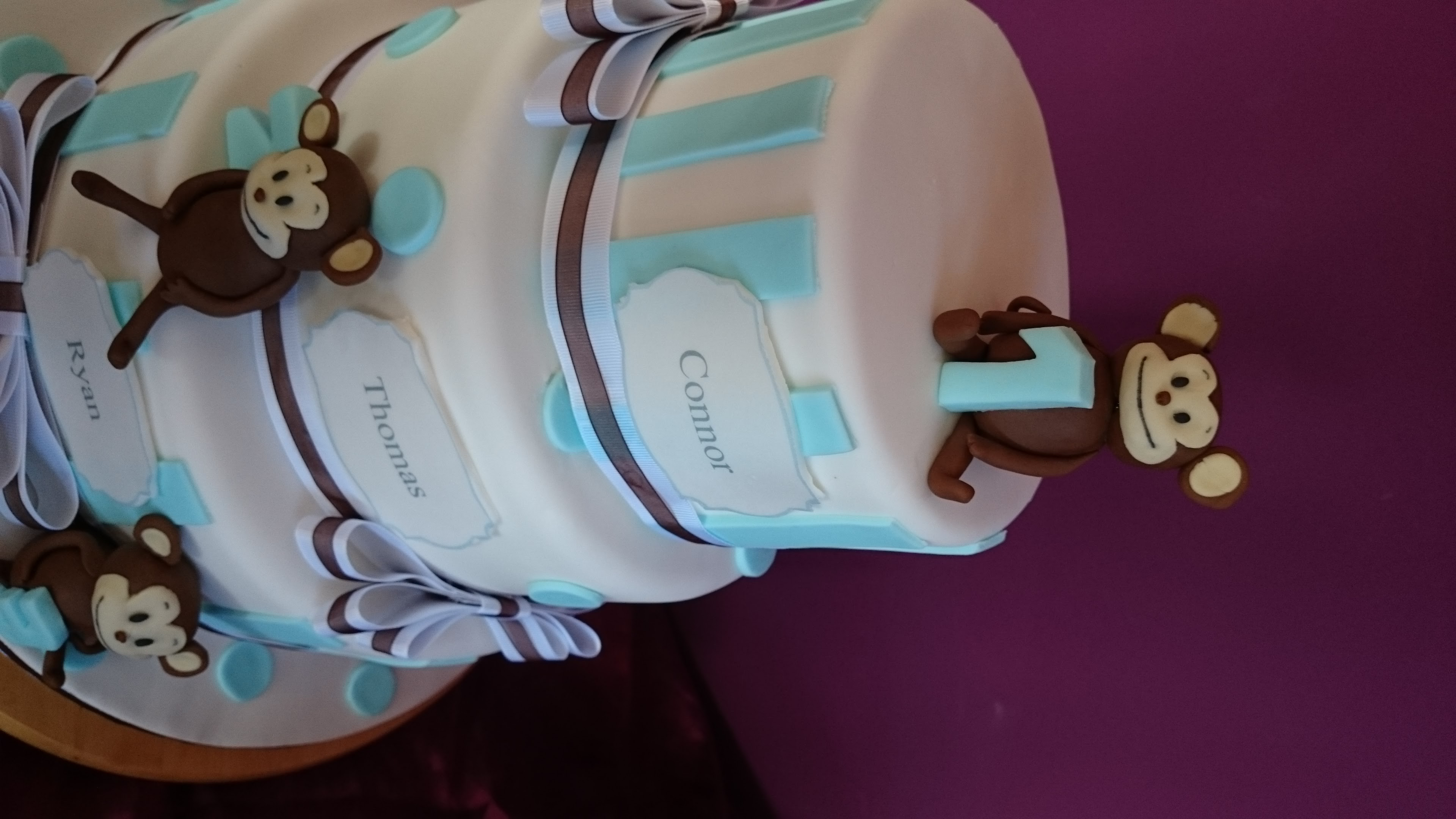 Three Tier Christening Cake