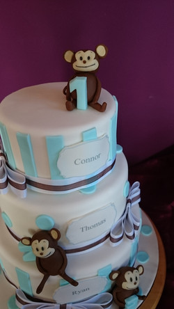 Three Tier Christening Cake