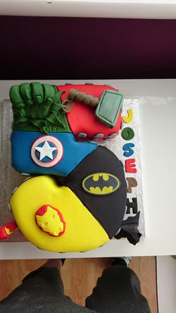 Marvel Number 5 Birthday Cake