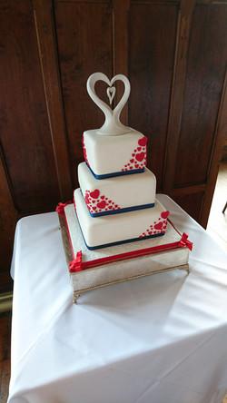 Three Tier Square Wedding Cake