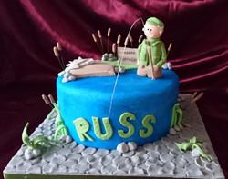 Fishing Birthday Cake