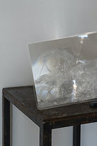 To be seen from an angle / Mixed media installation (plastic bag, lens sheet) / 2020