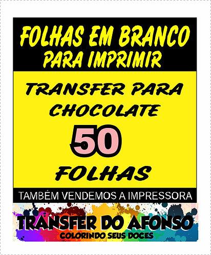 Folha de Transfer para Chocolate