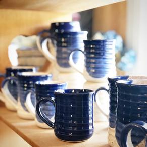 Solid Blue and Blue Dip Regular Mugs