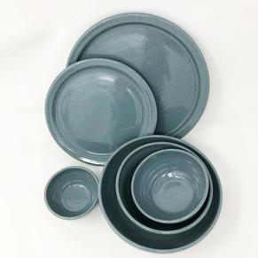 Slate Blue Plates and Bowls