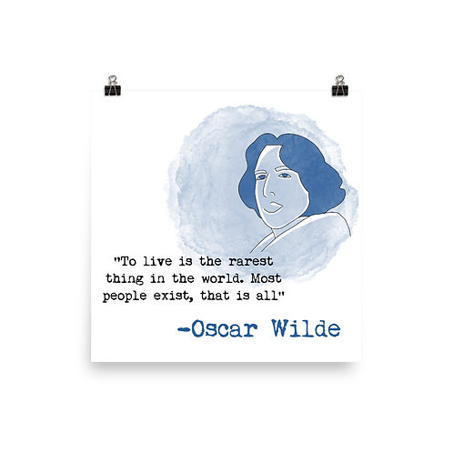 Lámina Oscar Wilde