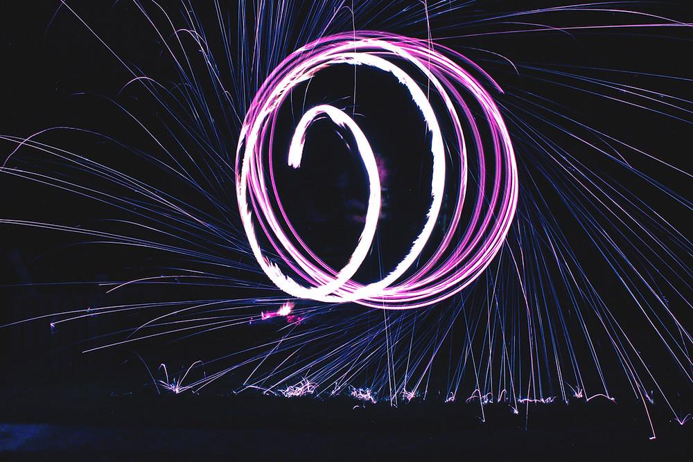 Purple Fireworks - Sparklers