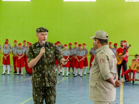 Visita do Exmo. Sr. General de Brigada Lima