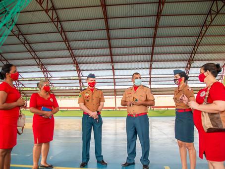Visita institucional do comandante do CMDPII - Rio Branco e equipe de ensino.