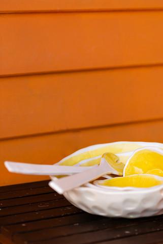 taças 4 tamanhos amarelas
