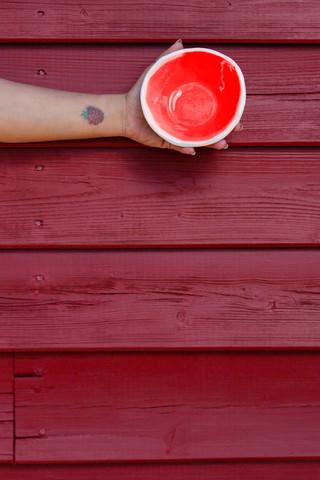 mini taça vermelha