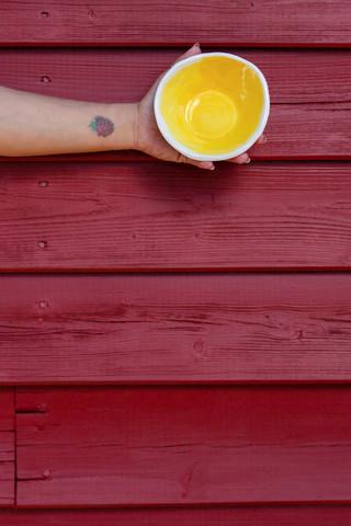 mini taça amarela