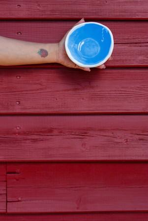 mini taça azul