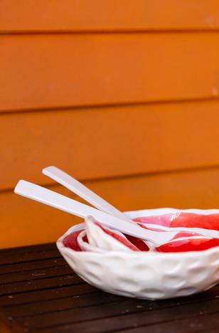 taças 4 tamanhos vermelhas