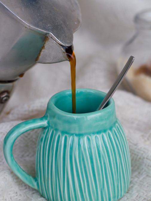 chávena café verde mar