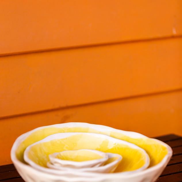 taça batida amarela