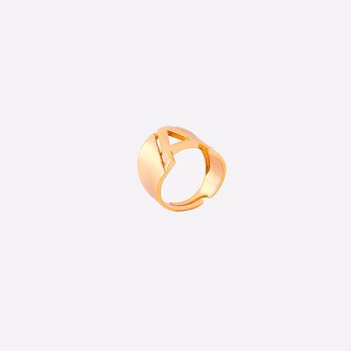 GISELA | Altın Kaplama Kararmaz Çelik Harf Yüzük