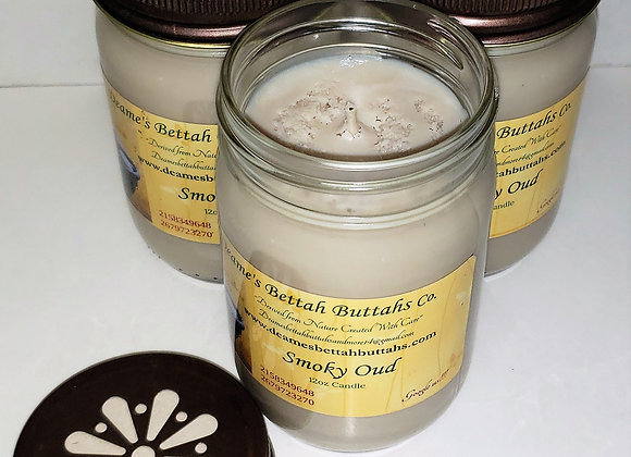 Smoky Oud Soy Candle