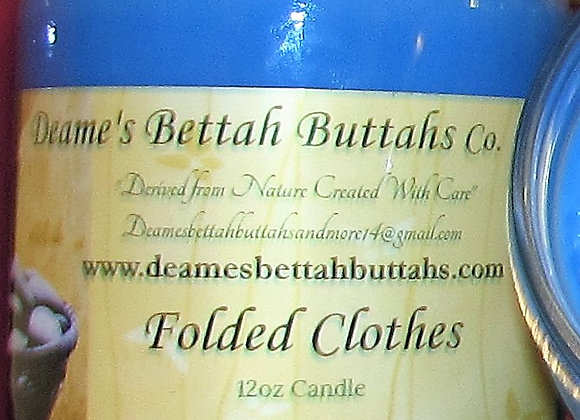 Folded Clothes Soy Candle