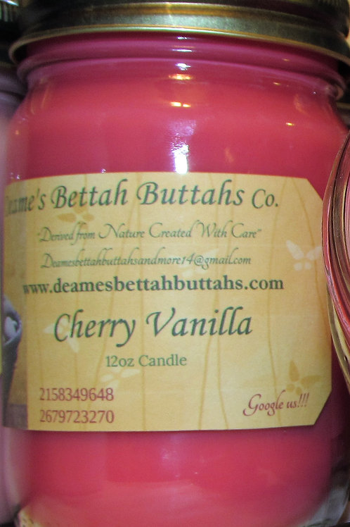 Cherry Vanilla Soy Candle