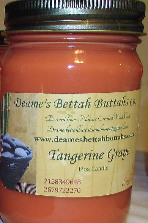 Tangerine Grape Soy Candle